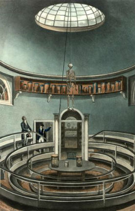 Interior of the Theatre of Anatomy, Cambridge, from The History of Cambridge, engraved by Joseph Constantine Stadler