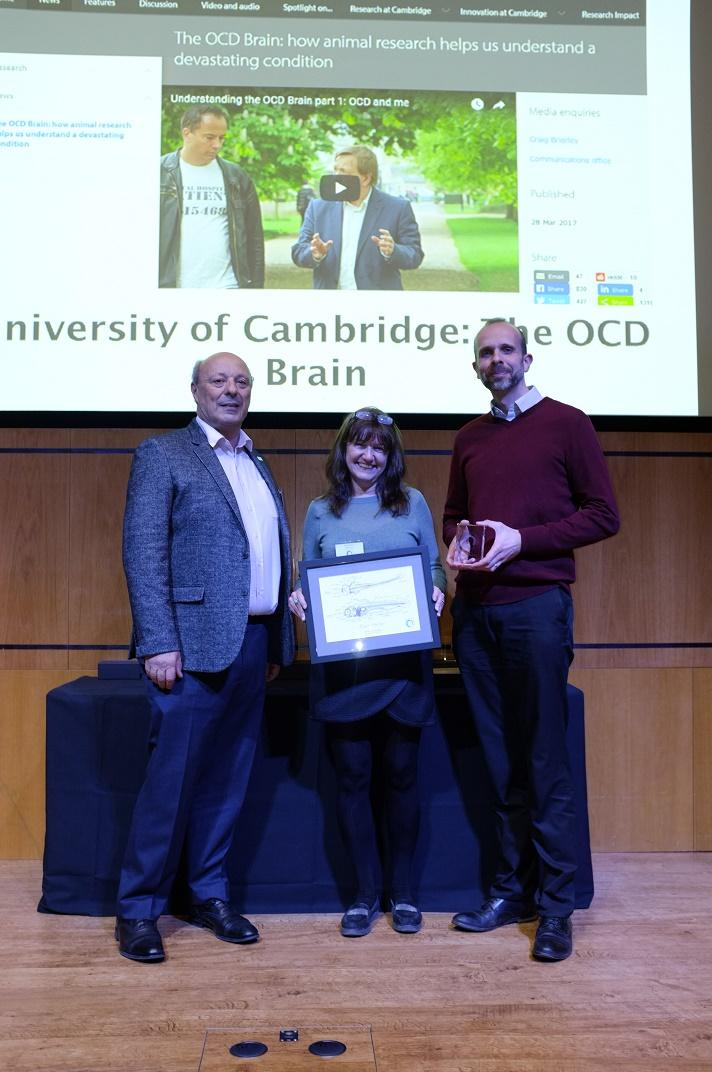 Angela Roberts, featured in the video, receiving the 2017 Openness Award